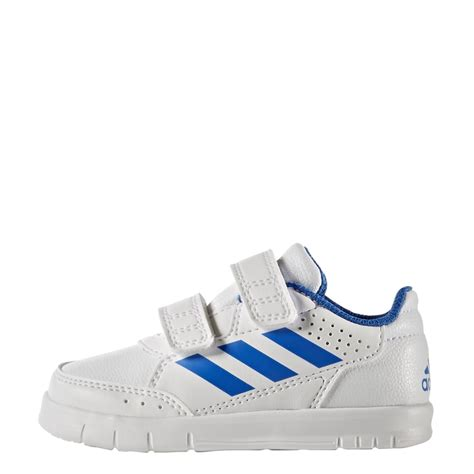 adidas infant altasport shoes white with blue stripe excell sports uk