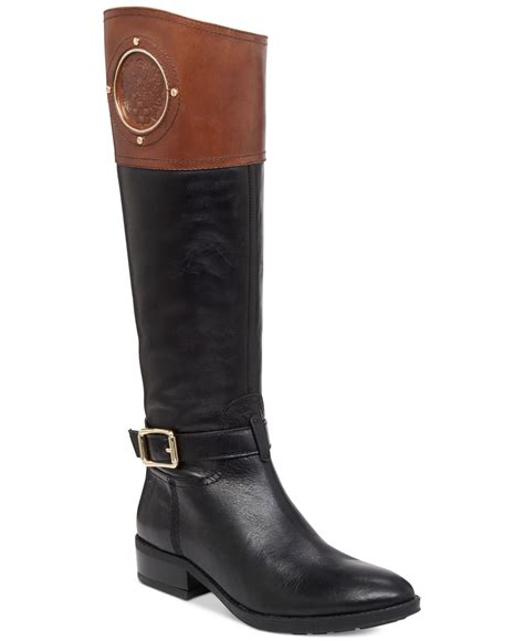 vince camuto boots vince camuto black phillie boots lyst