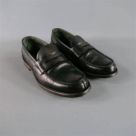 mens loafers for sale s prada size 8 distressed black pebbled leather