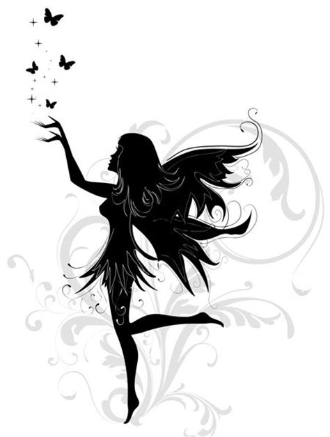 fairy silhouette tattoo designs 25 best ideas about designs on
