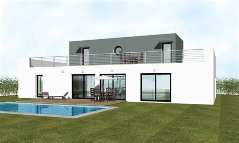 Home Design 3d Toit Construction D Une Maison Contemporaine Maison Moderne