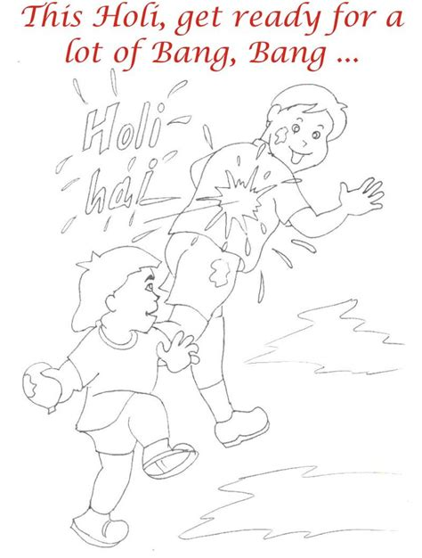Holi Coloring Printable Pages For Kids 17 Holi Colouring Pages