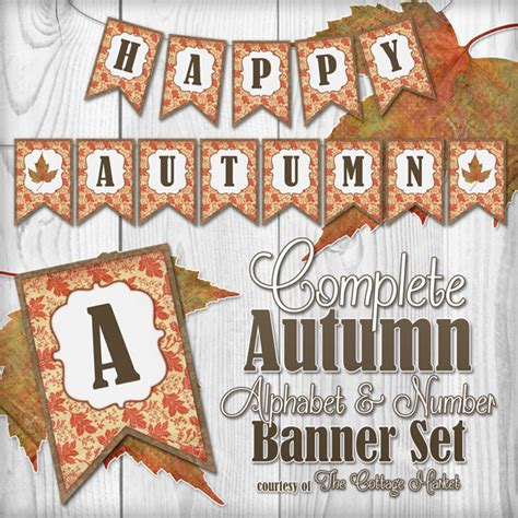printable fall banner free complete autumn alphabet and number banner bunting