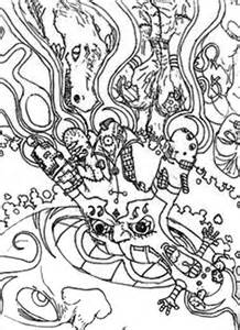 floral mandala trippy coloring pages batch coloring