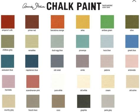 sloan colour chart shabby chic