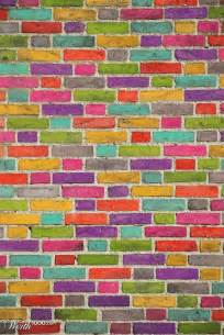 brick wall colorful living pinterest