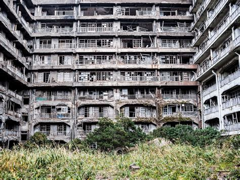 Before And After Homes by Hashima Among The Ruins On Japan S Battleship Island The