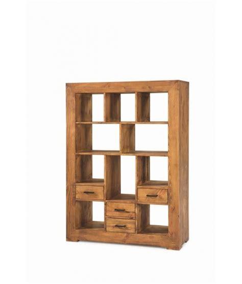 libreros de madera comprar librero madera estilo rustico con cuatro cajones zoom