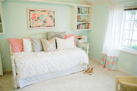 mint bedroom ideas mint peachy pink my bedroom tour reveal michaela