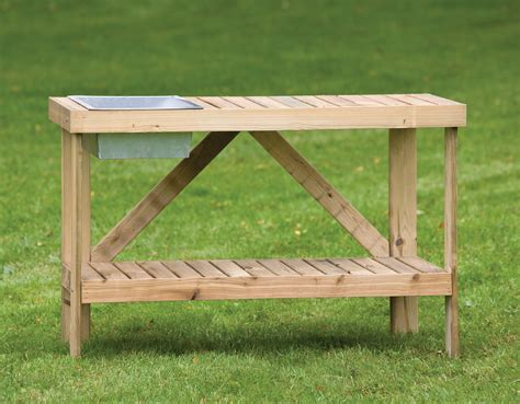 outdoor potting benches potting bench