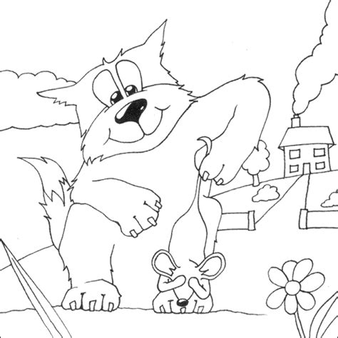 coloring pages cat and mouse cat and mouse coloring page