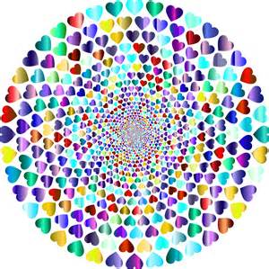 colorful the clipart colorful hearts vortex 13