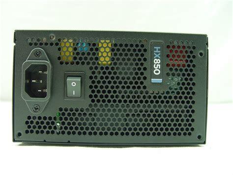 Hx Series Hx850 850 Watt 80 Plus Platinum Certified Fullymodular corsair professional series hx850 850 watt power supply review