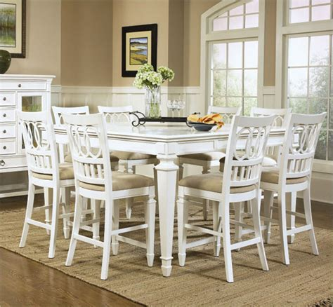 White Counter Height Dining Table And Chairs Magnussen Furniture Ashby Collection Wood Counter Height