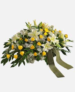 cuscino funebre cuscino funebre bianco e giallo tin 232 fioritin 232 fiori