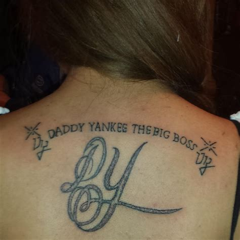 daddy yankee tattoos yankee on quot mi nuevo tatuaje de dy