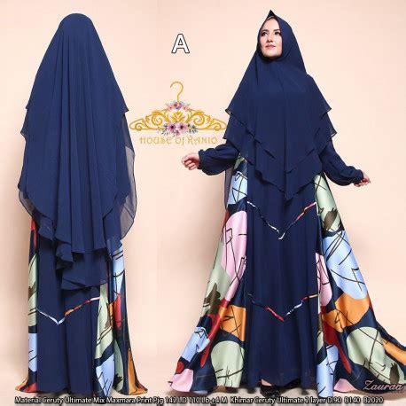 Pusat Grosir Baju Muslim Samara Syari Maxmara gamis syari modis zaura b2020 by kanio pusat grosir