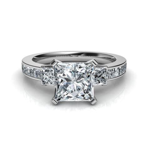 stone princess cut diamond engagement ring natalie