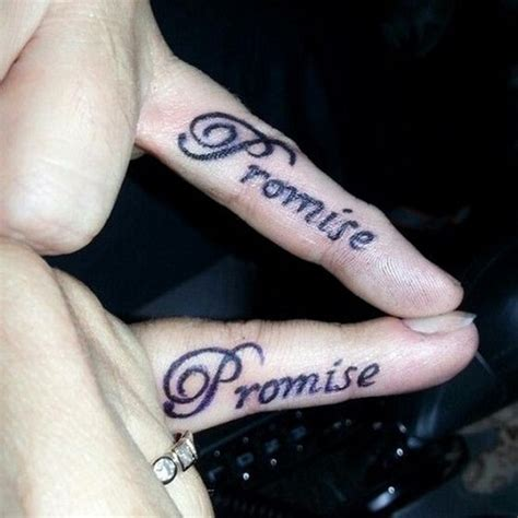 promise tattoo on little finger 54 beautiful promise finger tattoos