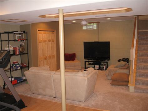 Partially Finished Basement Ideas Partial Finished Basement Finished Basement