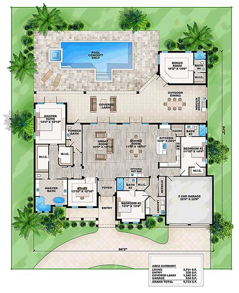 florida home plans house plan 2017