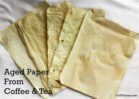 How To Search In Papers Two Ways To Age Paper Coffee Tea Craft Thyme
