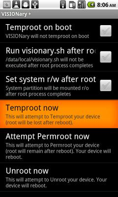 visionary apk how to gain permanent root on t mobile g2 desire z without adb