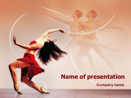 Ballet Dance Presentation Template for PowerPoint and