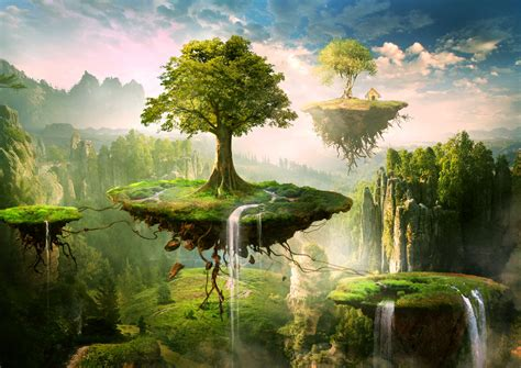 The Floating Island floating islands by elenadudina on deviantart