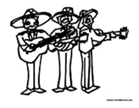 mariachi guitar coloring page cinco de mayo coloring pages