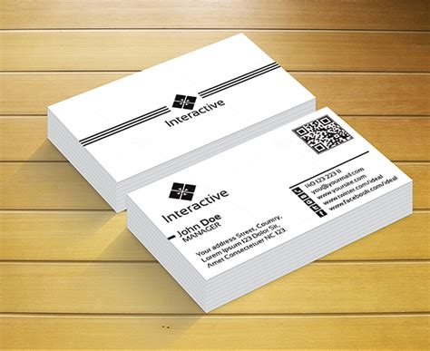 Interactive Card Template by Interactive Business Card Business Card Templates On