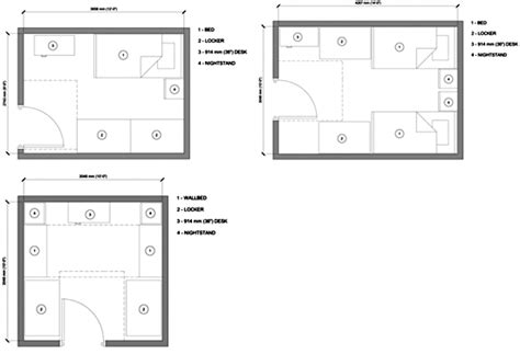 design guidelines for dormitory dorm room floor plans peenmedia com