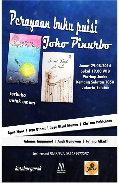 layout buku puisi perayaan buku puisi joko pinurbo kopi keliling