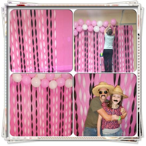 Gamis Crepe Photeto photo booth backdrop i made for my s 13th