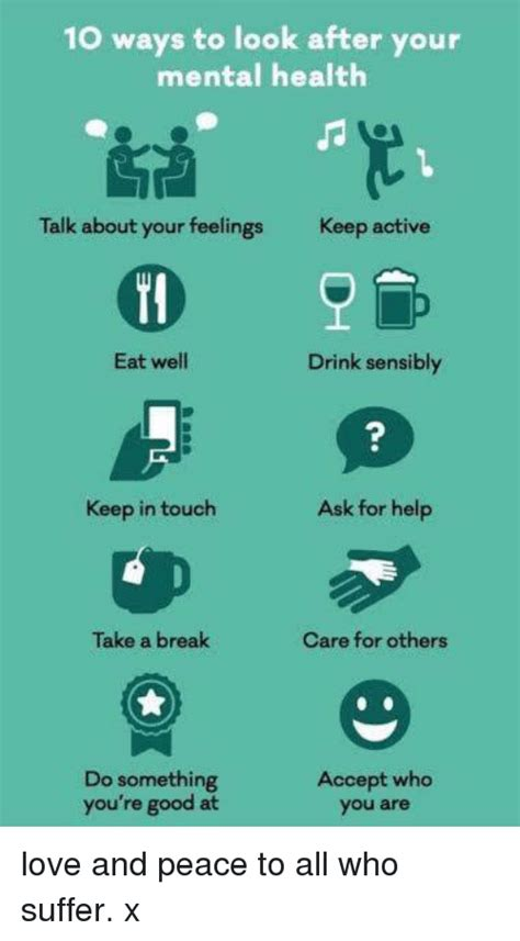 10 Ways To Your by 10 Ways To Look After Your Mental Health Talk About Your