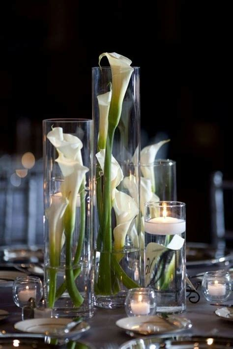 calla lily centerpiece   wedding decorations   Pinterest