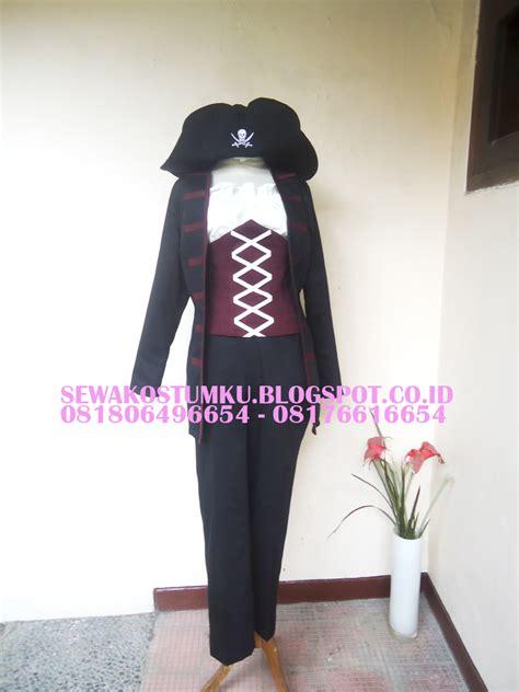 Kostum Anak Model Bajak Laut kostum bajak laut cewek blazer hitam sewakostumku