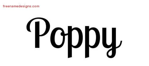 poppy archives free name designs