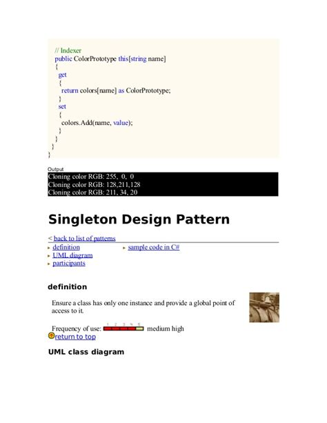 singleton design pattern dot net tricks 27418524 design patterns dot net with exles