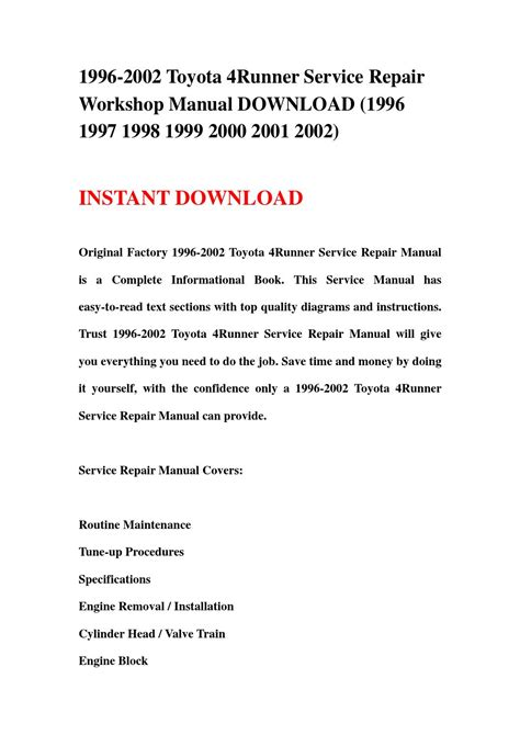 service manual how to time a 1997 hyundai tiburon cam shaft sensor removal 1997 hyundai 1996 2002 toyota 4runner service repair workshop manual download 1996 1997 1998 1999 2000 2001