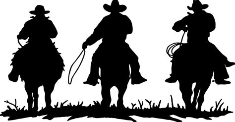 western silhouette clipart best