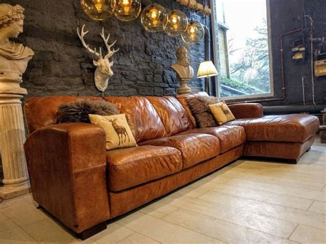 distressed brown leather corner sofa best 25 leather corner sofa ideas on pinterest leather