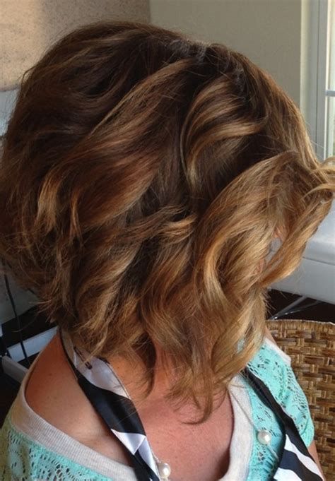 Images For Stacked Curly Bob | 12 stacked bob haircuts short hairstyle trends popular