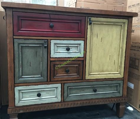 bayside furnishings accent cabinet english dovetail costcochaser
