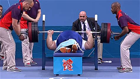 world record bench press 2012 siamand rahman 301kg bench press london 2012 paralympics