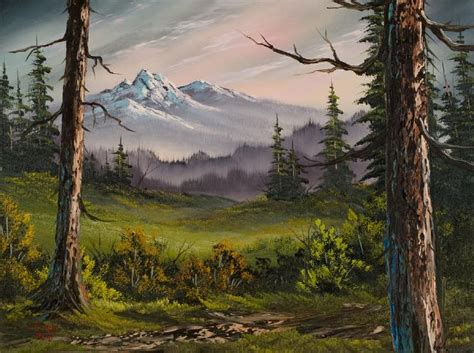 bob ross painting on sale bob ross meadow view painting bob ross meadow view