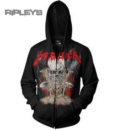 Hoodie Zipper Metalica Cloth official metallica hoody hoodie boris lightning black zip all sizes