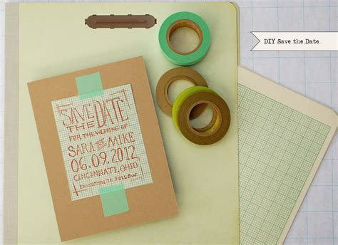 Handmade Save The Date - diy chic graph paper save the dates