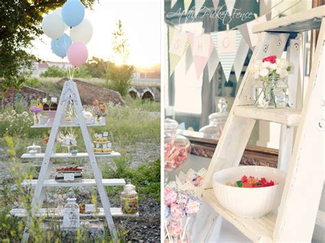 quirky themes party wooden ladders inspiration quirky parties