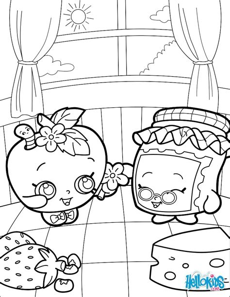 Shopkins Coloring Pages Jam Printable 6 Shopkins Jam Coloring Pages